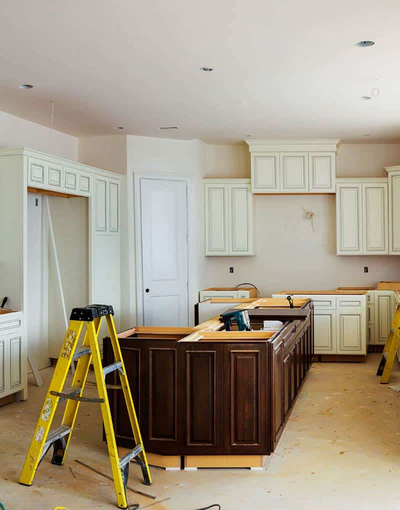unfinished cabinets in kitchen home remodeling
